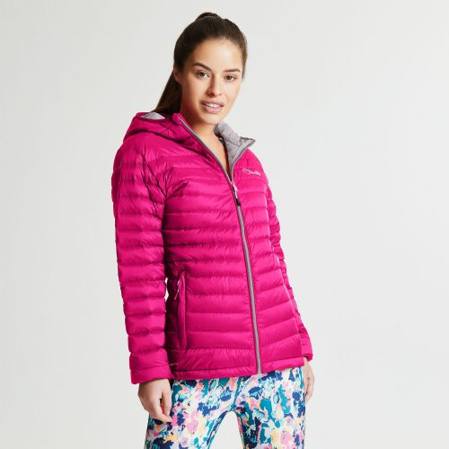 Dare2b WOMEN'S DRAWDOWN DOWN FILL INSULATED JACKET - Pink Fusion